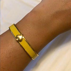 Kate Spade yellow bangle bracelet
